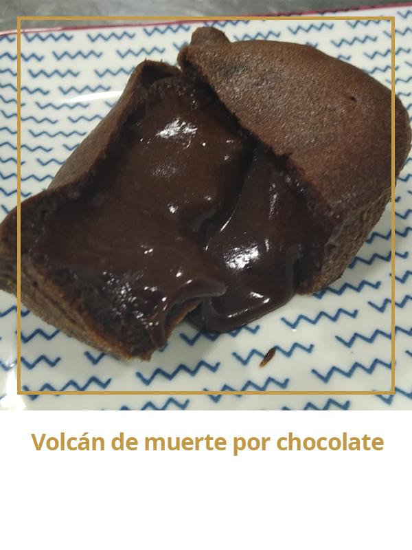 Volcán muerte por chocolate